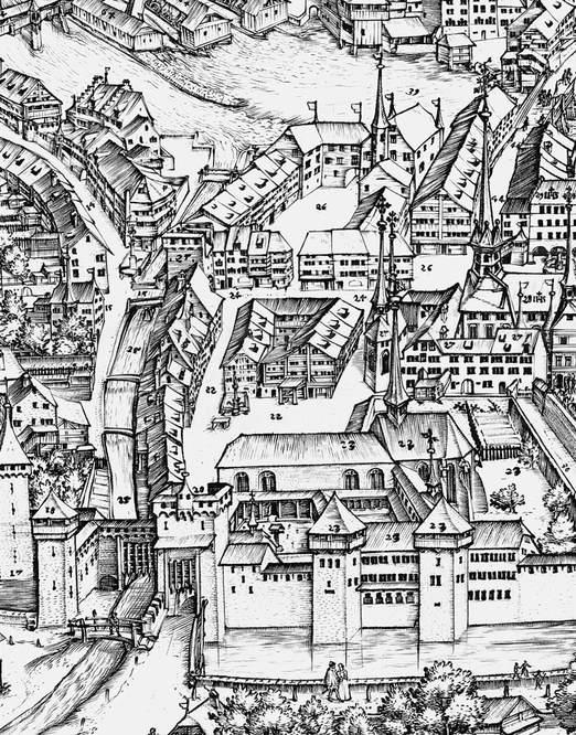 Zeichnung Historisches Luzern