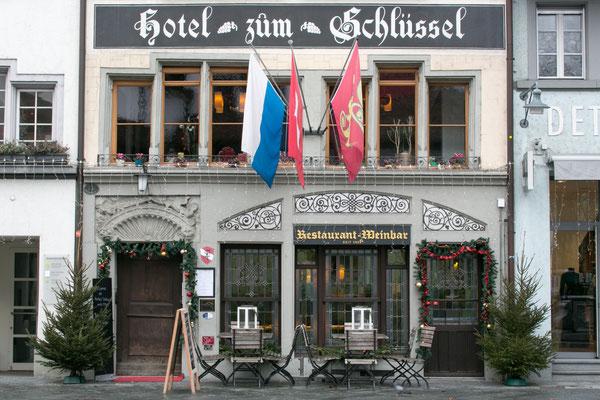 Hotel zum Schlüssel in Luzern, Aussenansicht